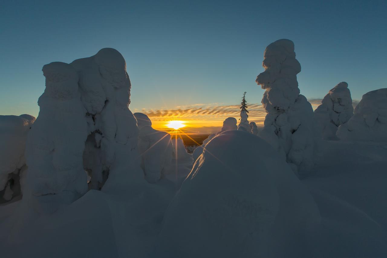 Derniers rayons de soleil sur le mont Livara