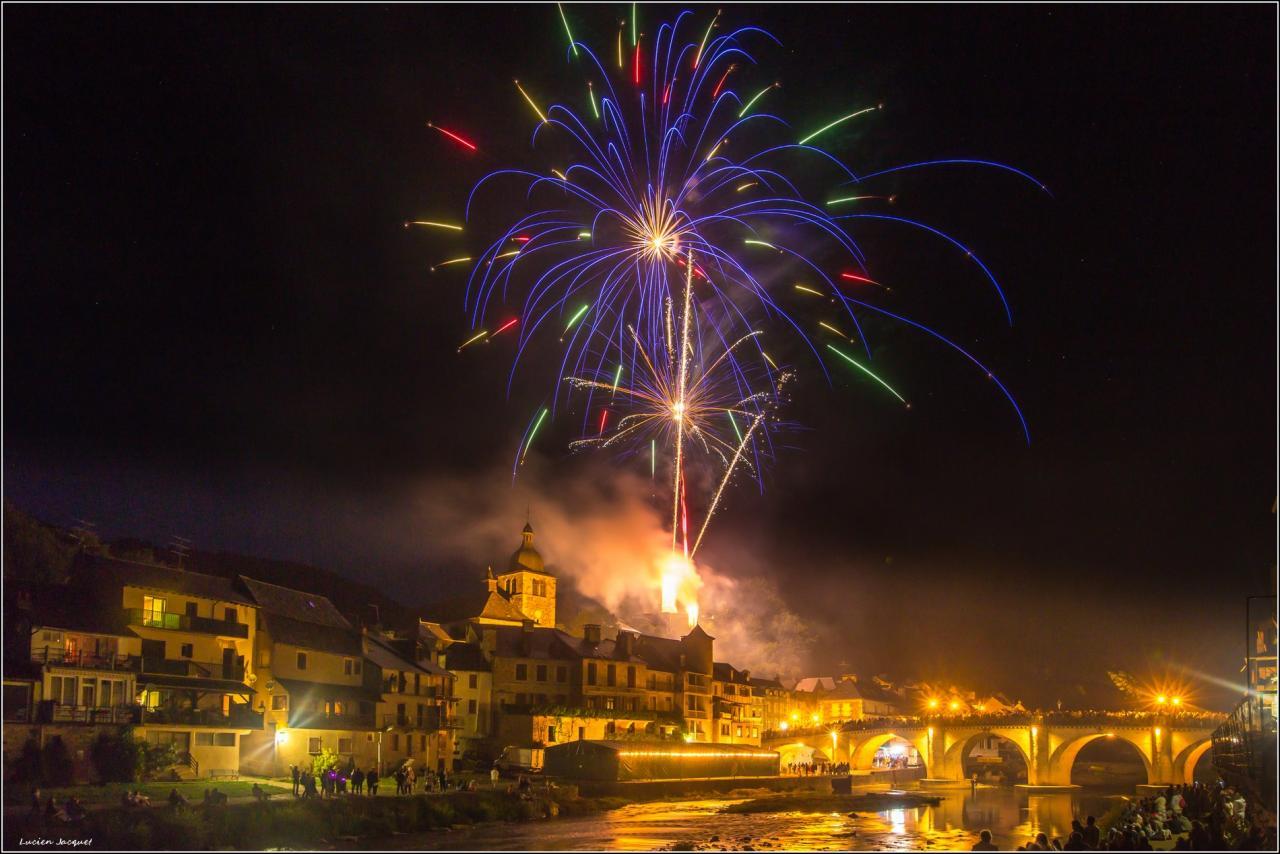 14 juillet 2017, Saint Geniez d'Olt, Aveyron.